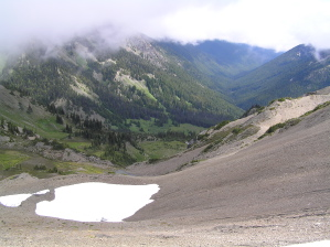 Melting Snow and Lakes in the Mountains